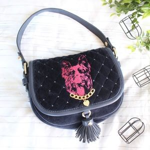 Juicy couture velour Scottie hobo handbag purse
